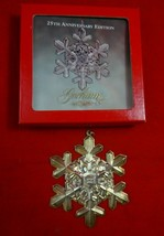 Sterling 25th Anniversary Gorham Snowflake Ornament in Box with Pouch, 1994 - $59.00