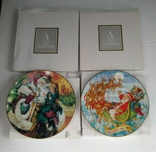 Vintage AVON Christmas Plates 1993 and 1994 Fine Collectibles - $27.85