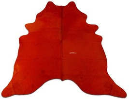 Orange Cowhide Rug Average Size: 7'X 6 'ft  Dyed Orange Brazil Cowhide Skin Rug  - $296.01