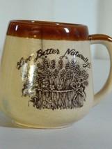Vintage Stoneware Enesco 1977 Live Better Naturally Coffee Mug Tea  Cup - $15.35