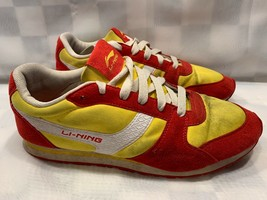 "LI-NING Classic ""Make the Change"" Men's Shoe Size 10.5 Red Yellow ALCG129-1 - $25.24"