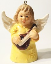 1977 Goebel Angel Bell Ornament Yellow - $4.94