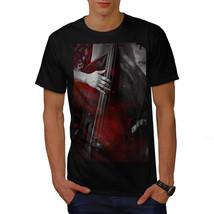 Jazz Bass Art Old Music Shirt Bass Player Men T-shirt - $12.99+
