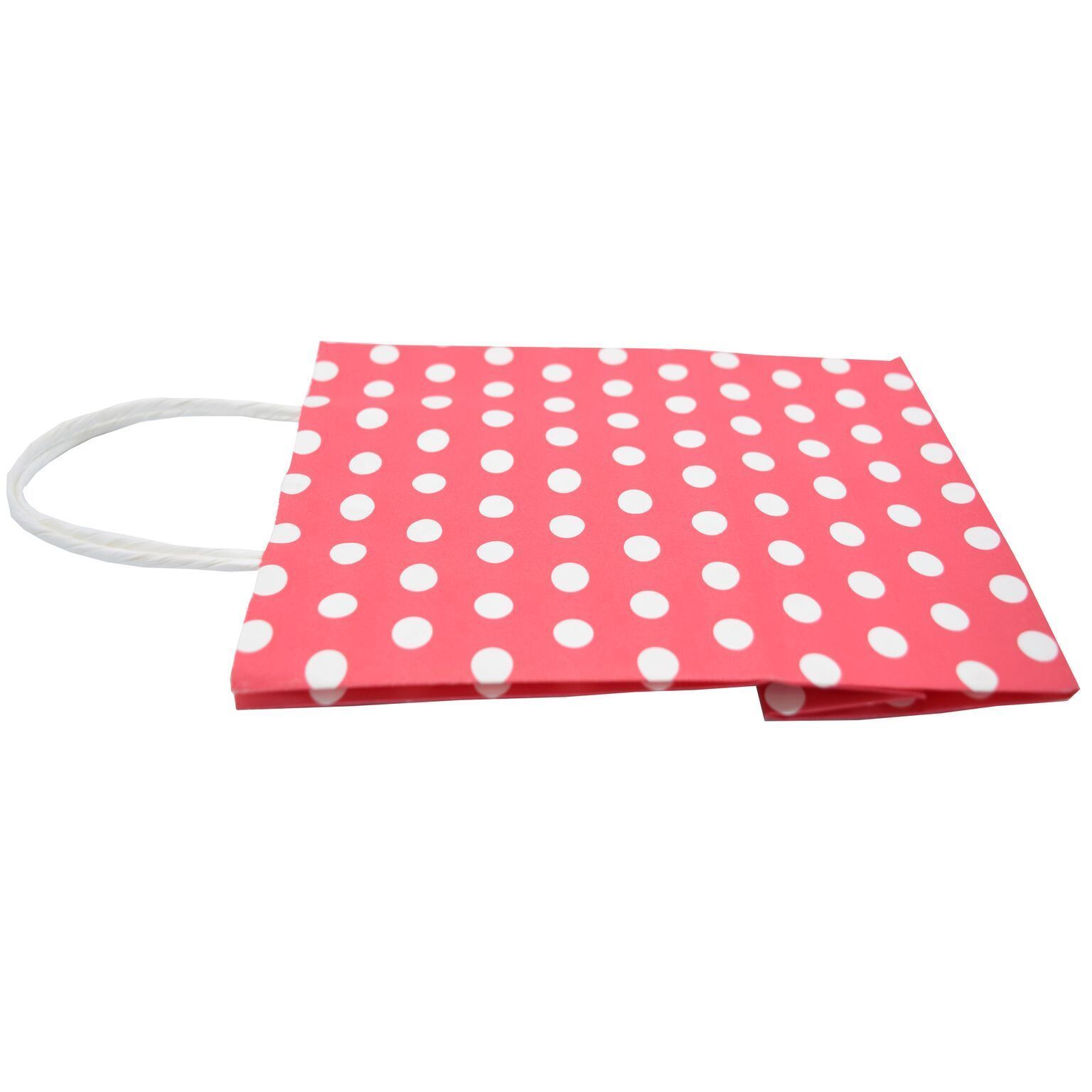 8.3x4.3x10.6in One Pack of 12 Polka Dot Design Red Gift Bags 21x11x27cm