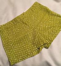 Ann Taylor Loft Green Polka Dot Original Fit Shorts Size 4 - $27.72