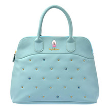 Disney Store Young Oyster Tiny Boston Handbag Alice Embroidery Blue Baby L - $67.32