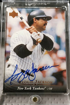 1995 Upper Deck Reggie Jackson Signed Baseball Card - Yankees - $79.99
