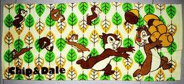 CHIP & DALE Cute Disney Cartoon 34 x 80 cm Green Leaf Pattern Cotton Towel - $10.99