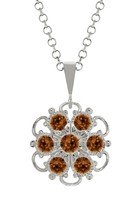 Lucia Costin, 925 Sterling Silver, Smoked-Topaz... - $44.06