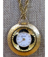 """Lucerne Vintage Swiss Made Wind Up Pretty Necklace Pendant Watch-24"""" Chain - $37.00"""
