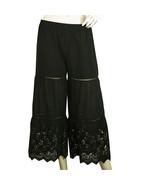Twin Set Simona Barbieri Black Cropped Pants 100% Cotton Summer Trousers... - $108.90