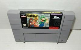 Super Nintendo SNES Mario Is Missing Game Cartridge 1993 - $17.99