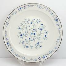 "Noritake Serene Garden Salad Plate 8-5/8"" White w Blue Floral - $9.90"