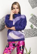 Fluffy knit jumper - 80s vintage sweater - $34.04
