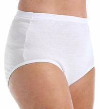 Fruit Of The Loom Fit For Me 3 Pack Cotton Brief Panties White Size 13 New  - $12.86