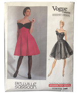 Vogue 2468 Belville Sassoon Dress for Prom, Cocktail, Party,Flare Skirt ... - $25.00