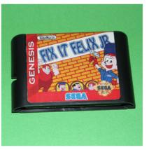 Fix It Felix JR Game Cartridge 16bt Card Sega Mega Drive Genesis System - $9.95