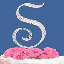 Fully Covered in Crystal Monogram Wedding Cake Topper Letter - Letter S - $14.49