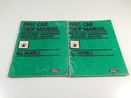 1980 Ford Car Shop Manual Pre-Delivery Pinto Mustang Bobcat Grananda Monarch - $12.99