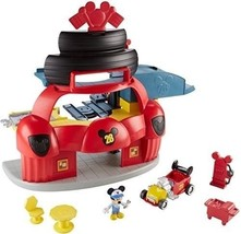 Fisher-Price Kids Disney  Mickey Mouse  Clubhouse Roadster Racers Garage Playset - $46.64
