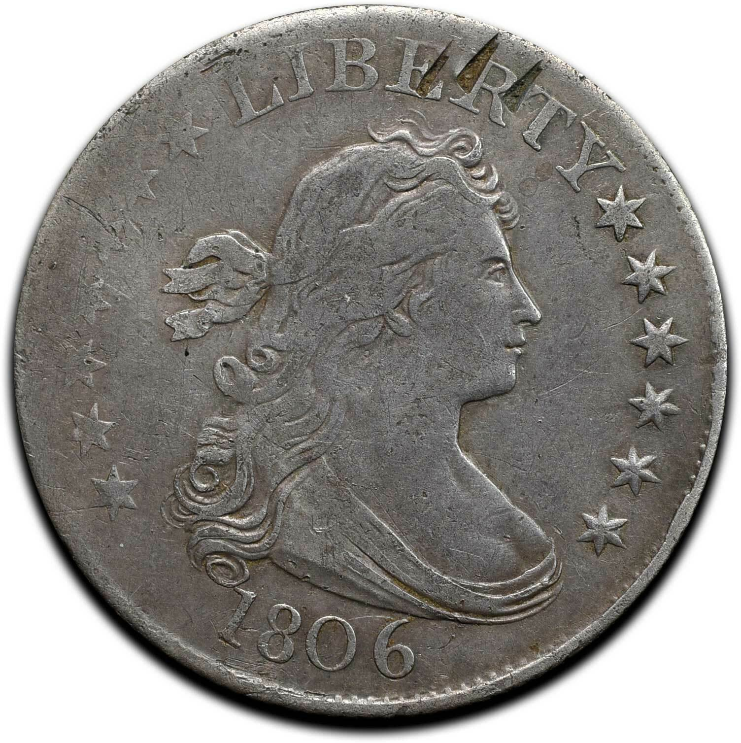 1806 Capped Bust Silver Half Dollar 50¢ Coin Lot# A 507