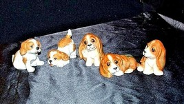 HOMCO Playful Puppy Figurines 1407 AA18 - 1167  Vintage set of 5