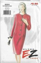 Plus Size Ultra EZ By Vogue Pattern #9324-Misses Dress in Sizes 18-20-22 - $9.46