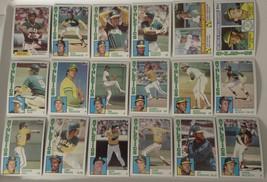 1984 Topps Oakland Athletics A's Team Set of 33 Baseball Cards - $5.99