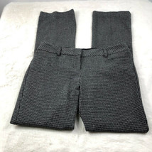 Express Women's 'Editor' Dress Pants Houndstooth Gray Work Career Size 6R - $24.03