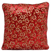 10 Red Velvet Sparkly Cushion Covers 16x16 40cm Wholesale Clearance Bulk... - $41.43