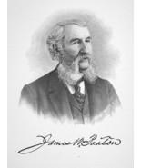 JAMES W. PAXTON West Virginia Banker - 1895 Portrait Antique Print - $9.45