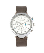 Breed Tempest Chronograph Leather-Band Watch w/Date - Grey/White - $405.00