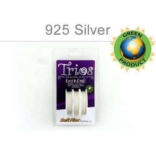 Primary image for SoftFlex, Sterling Silver, Trios .014, .019, .024 Diameter, 3Spools (11333)/1