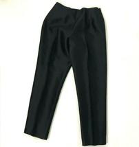 Talbots Sz 6 6P Petite Black Pure Silk Slacks Dress Pants Trousers Women's - $19.79