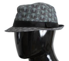 Dolce & Gabbana Gray Owl Print Wool Fedora Trilby Hat - $104.48