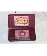 Nintendo DSi XL Wine Red Handheld System No AC Plug 2B - $44.00