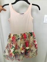 N4 TRULY ME Girls Floral Tutu Skirt Dress By Sara Sara Size  8 - $17.99