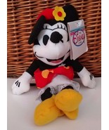 """Disney Store Character 1930s Minnie Mouse Bean Bag Stuffed Plush Toy 9"""" - $16.69"""