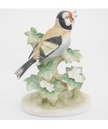 Lefton Baltimore Oriole Porcelain Bird Figurine Flowers Leaves Branches ... - $24.74