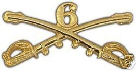 ARMY 6TH CAVALRY GOLD LAPEL HAT PIN - $13.53
