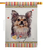 Chihuahua Happiness - Impressions Decorative House Flag H110168-BO - $40.97