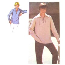 1970s Vtg Simplicity Sewing Pattern 8819 Boys Pullover Shirt Front Lacin... - $7.95