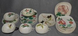 1940s Red Wing CONCORD LINE 20 pc Set CUPS and SAUCERS Hand Painted MADE... - $49.49