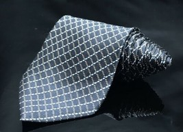 Bill Blass 100% Silk Criss Cross Over Rope Striped Classic Necktie Tie - $16.55
