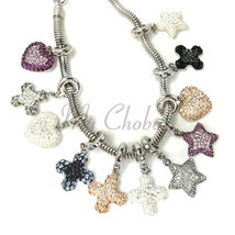 Swarovski European Hang Bracelet Charm Stainless Steel BeCharmed Pave Crystal image 4
