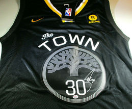 "STEPHEN CURRY / AUTOGRAPHED GOLDEN STATE WARRIORS 'THE TOWN"" LOGO JERSEY... - £202.32 GBP"