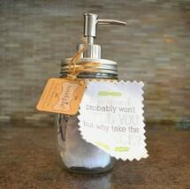 Mud Pie Countertop Glass Jar Soap Pump Dispenser Towel Set - Housework - $18.00