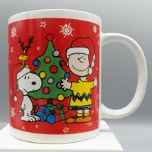 Galerie Peanuts Snoopy Mug Charlie Brown Christmas Tree Woodstock 2011 R... - $9.48