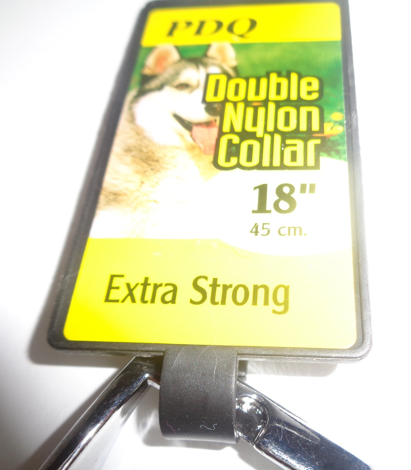 "Purple Extra Strong Nylon Dog Collar 18"" NWT PDQ Brand Medium Size"