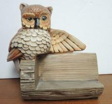Vintage Ceramic Owl Recipe Holder - $7.48